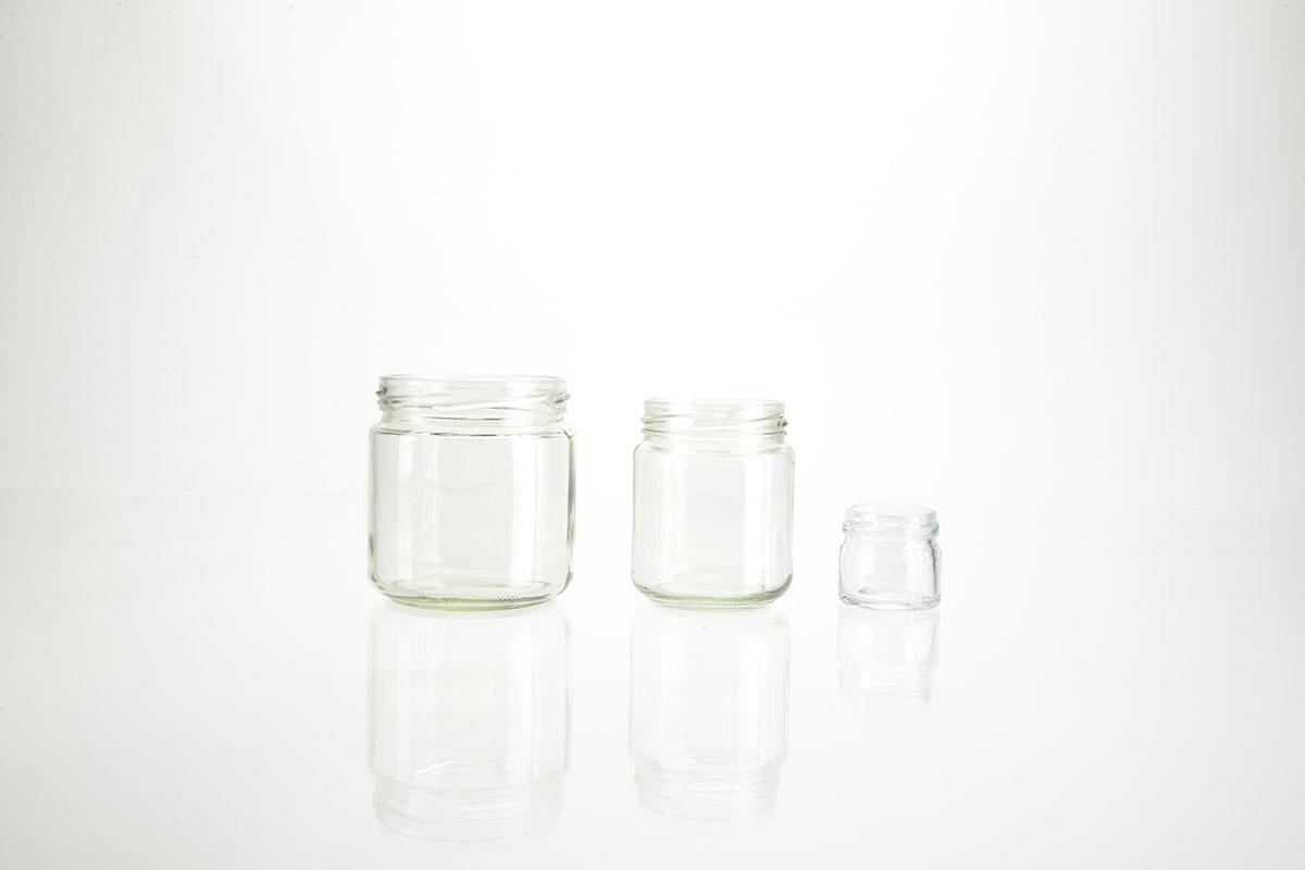 Bocaux ronds en verre forme basse