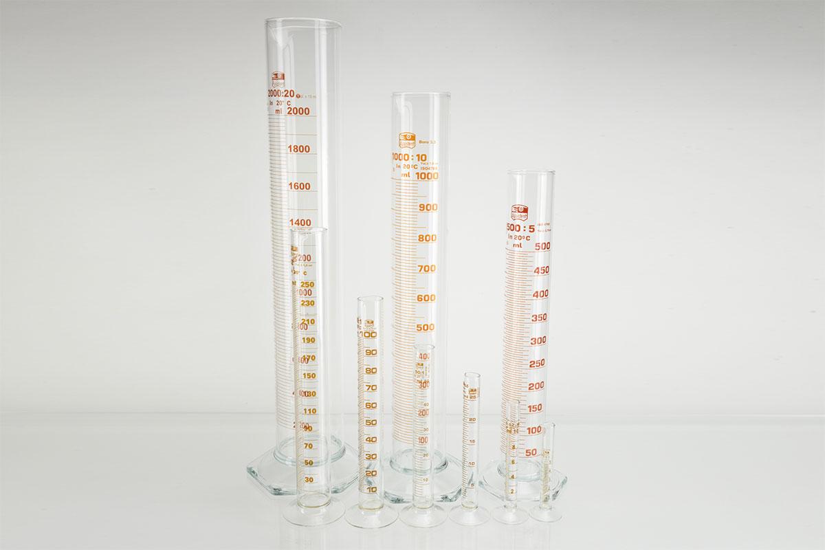 Cylindres gradués forme haute en verre