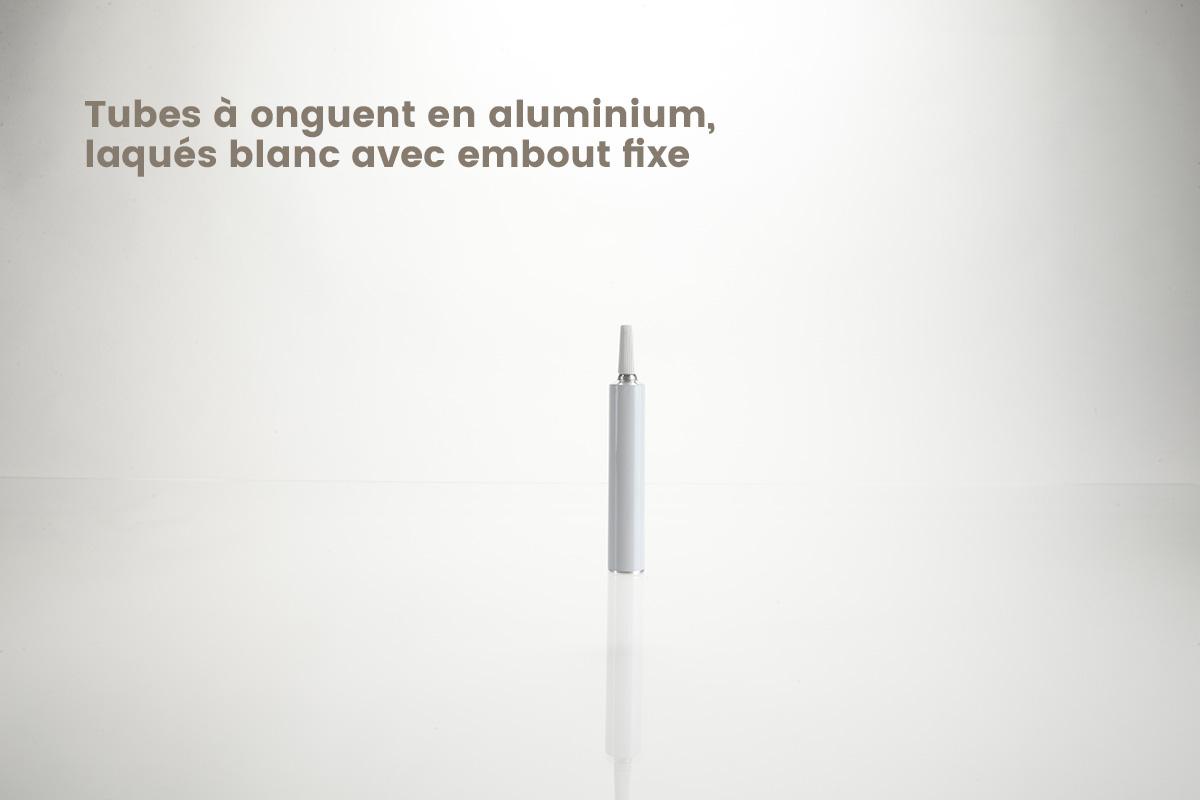 Tubes à onguents en aluminium laqués blanc
