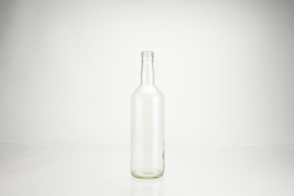 Bouteilles à spiritueux en verre blanc a vis - PP 31.5