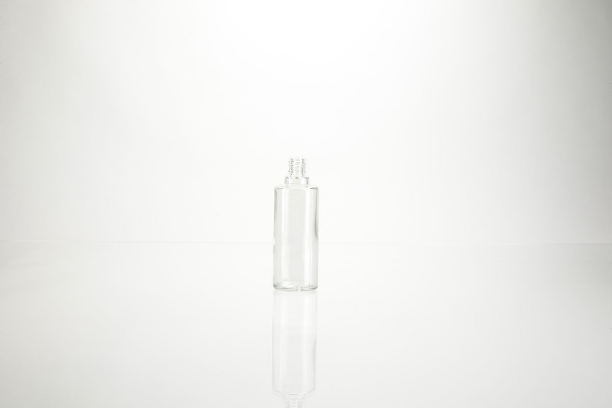 Bouillottes rondes en verre blanc